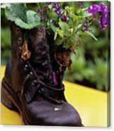 Flower Shoe Pot Canvas Print