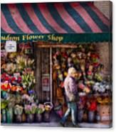 Flower Shop - Ny - Chelsea - Hudson Flower Shop  Canvas Print