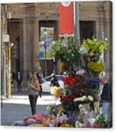 Flower Stand In Milan Canvas Print