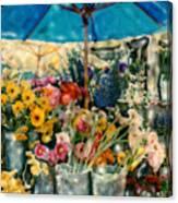 Flower Stand Canvas Print