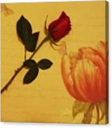 Flower Talk With Wallpaper Canvas Print