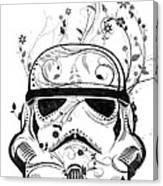 Flower Trooper Canvas Print