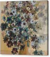 Flower Vase Original Watercolor Canvas Print