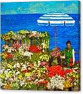 Flower Vendor In Sea Point Canvas Print