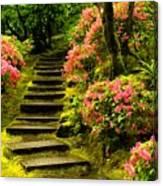 Flower Walk Canvas Print