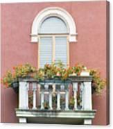 Flowered Italian Balcony Canvas Print