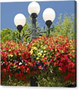 Flowered Lamppost Canvas Print