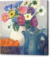 Flowered Love Canvas Print