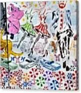 Flowered Mural Canvas Print