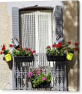 Flowered Window Canvas Print
