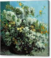 Flowering Branches And Flowers Canvas Print