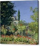 Flowering Garden At Sainte-adresse Canvas Print