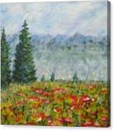 Flowering Mountain Meadow Canvas Print