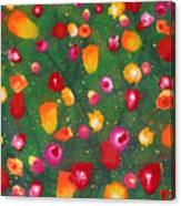 Flowers Afloat Canvas Print