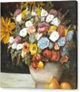 Flowers After Renoir Canvas Print