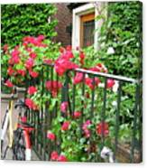 Flowers And Bikes Oh My Canvas Print