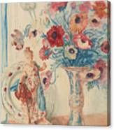 Flowers And Porcelain Canvas Print