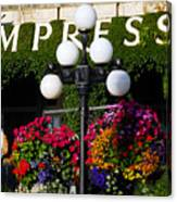 Flowers At The Empress Canvas Print