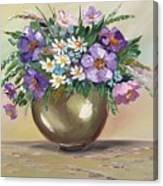 Flowers,still Life Canvas Print