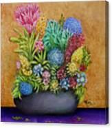 Flowers Base Canvas Print