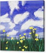 Flowers Bright Field Canvas Print