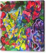Flowers Color Sketch 1 Canvas Print