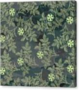 Flowers Fabric Print Design Canvas Print