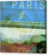 Flowers For Paris Canvas Print