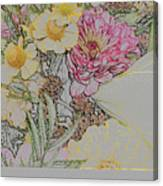 Flowers In A Bunch Canvas Print