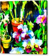 Flowers In Abstract 18 Canvas Print