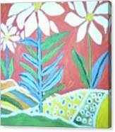 Flowers In Field Canvas Print