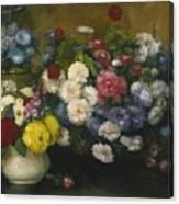 Flowers In Three Vases 1879 Canvas Print