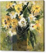 Flowers In White And Yellow Canvas Print