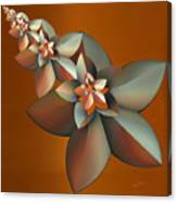 Flowers On Bronze Canvas Print