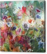 Flowers On Canvas Canvas Print