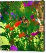 Flowers On Display As Abstract Art Canvas Print