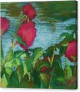 Flowers On Water Canvas Print