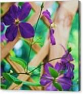 Flowers Purple Canvas Print