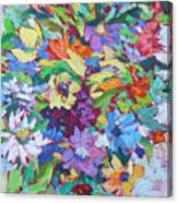 Flowers Splash Canvas Print