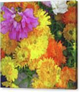 Flowers That Smile Digital Watercolor Canvas Print