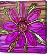 Flowerscape Dahlia Canvas Print