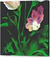 Flowerscape Glow Of Night Canvas Print