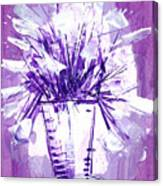 Flowery Purple II Canvas Print