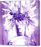 Flowery Purple IIi Canvas Print
