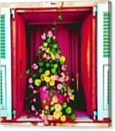 Flowery Window Canvas Print