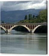 Flowing Bridge Canvas Print