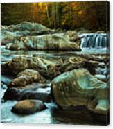Flowing River On Greenbrier Cove Road Smoky Mountains National P Canvas Print