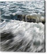 Flowing Sea Waves Canvas Print