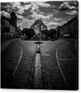 Flowing Street Of Kosice Canvas Print