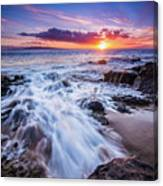 Flowing Sunset Canvas Print